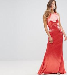 Платье макси с американской проймой, юбкой годе и открытой спиной Jarlo Petite - Красный