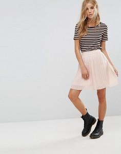 Мини-юбка с плиссировкой Only Manno - Розовый