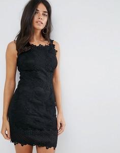 Черное кружевное платье мини Ax Paris - Черный