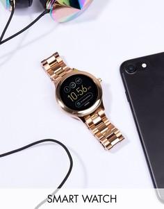 Смартчасы цвета розового золота Fossil Q FTW6000 Venture - Золотой