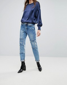 Свободные джинсы бойфренда Noisy May Kim - Синий