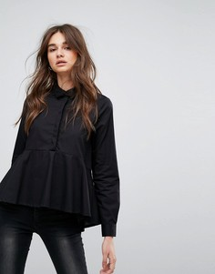 Рубашка асимметричной длины Noisy May Kyra - Черный