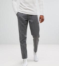 Суженные книзу брюки из ткани с добавлением шерсти Selected Homme TALL - Серый