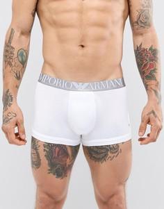 Боксеры-брифы с логотипом на поясе Armani - Белый