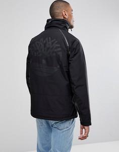 Черная утепленная куртка со светоотражающим логотипом на спине Timberland - Черный