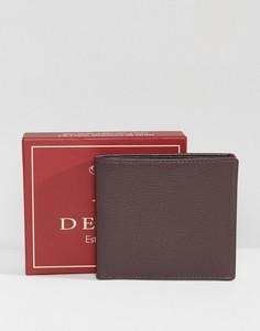 Коричневый кожаный бумажник Dents - Коричневый