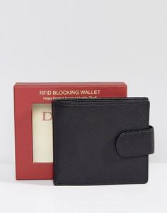Кожаный бумажник Dents - Черный