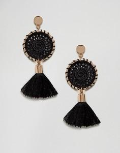 Серьги с кисточками Ashiana - Черный