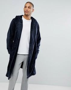 Флисовый халат ASOS - Темно-синий