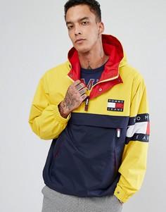 Куртка колор блок в стиле 90-х (темно-синий/желтый) Tommy Jeans Capsule - Мульти