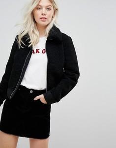 Куртка с искусственным мехом Miss Selfridge - Черный