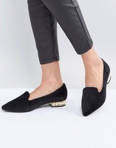 Черные туфли с искусственным жемчугом на каблуке Glamorous - Черный