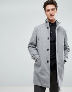 Серое шерстяное пальто Lindbergh - Серый