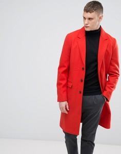 Красное пальто из ткани с добавлением шерсти Lindbergh - Красный