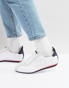 Белые кроссовки из кожи и замши в стиле 90-х Tommy Jeans Capsule Neptune - Белый