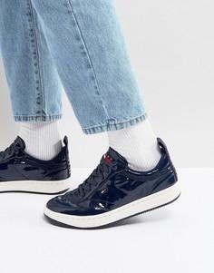 Темно-синие лакированные кроссовки в стиле 90-х Tommy Jeans Capsule Jump - Темно-синий