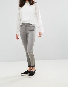 Суперэластичные джинсы скинни Pieces Five Betty - Серый