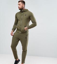 Зауженный спортивный костюм цвета хаки Puma эксклюзивно для ASOS - Зеленый aebac3fee75ca