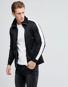 Спортивная куртка со вставками на рукавах ASOS - Черный