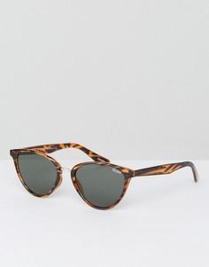 Солнцезащитные очки кошачий глаз в черепаховой оправе Quay Australia Rumours - Коричневый