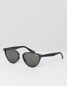 Черные солнцезащитные очки кошачий глаз Quay Australia Rumours - Черный