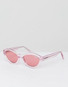Розовые солнцезащитные очки кошачий глаз Quay Australia X Kylie Jenner As If - Розовый
