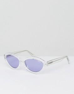 Фиолетовые солнцезащитные очки кошачий глаз Quay Australia X Kylie Jenner As If - Фиолетовый