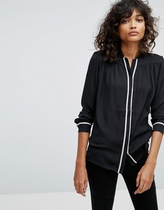 Рубашка в пижамном стиле All Saints Rica - Черный