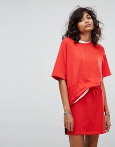 Свободная футболка в стиле колор блок Noisy May - Красный
