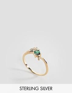 Кольцо с изумрудом Regal Rose - Золотой
