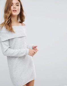 Платье-джемпер с открытыми плечами Only - Белый