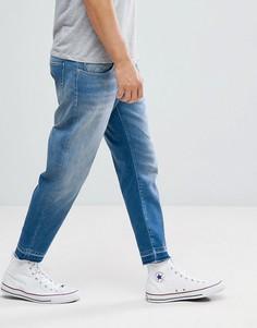 Суженные книзу укороченные джинсы Selected Homme - Синий