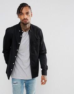 Черная эластичная джинсовая рубашка приталенного кроя ASOS - Черный