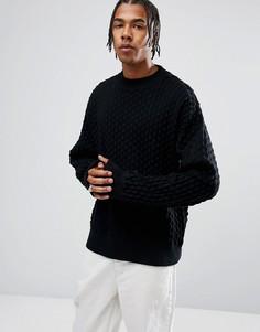 Однотонный свитер Weekday - Черный