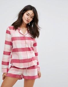 Пижамный топ в клетку с длинными рукавами Vero Moda - Мульти