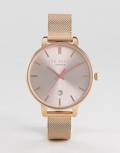 Часы цвета розового золота с сетчатым браслетом Ted Baker Kate - Золотой