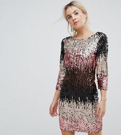 Облегающее платье мини с отделкой пайетками Little Mistress Petite - Мульти