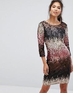 Облегающее платье мини с пайетками Little Mistress - Мульти