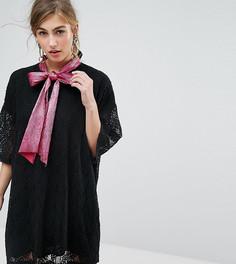 Кружевное платье мини с завязкой на шее Sister Jane - Черный