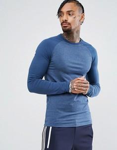 Обтягивающая футболка с длинными рукавами реглан ASOS - Мульти