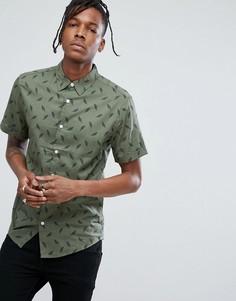 Рубашка с принтом перьев Dead Vintage - Зеленый
