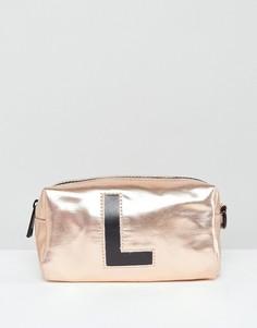 Косметичка с инициалом L New Look - Золотой