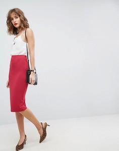 Трикотажная юбка-карандаш ASOS - Красный