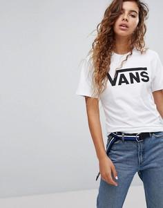 Белая oversize‑футболка с логотипом Vans - Белый