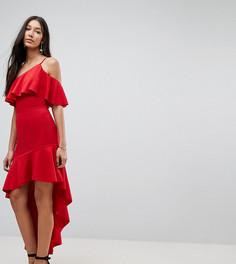 Асимметричное облегающее платье мини ASOS TALL - Красный