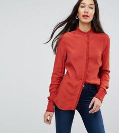 Блузка с фактурной отделкой Y.A.S Tall - Оранжевый