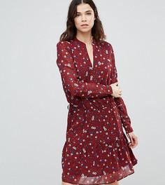 Платье с цветочным принтом Y.A.S Tall - Красный
