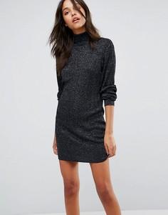 Платье с отворачивающимся воротником JDY - Черный