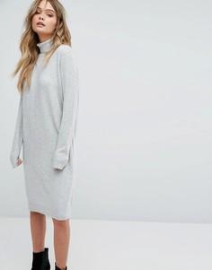 Платье-водолазка Y.A.S - Серый