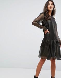 Свободное платье металлик Y.A.S - Золотой